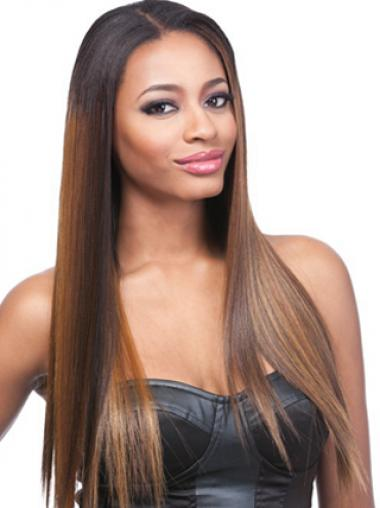 "24"" Ombre/2 Tone Lace Front Wigs For Black Women"