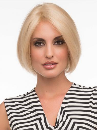 Bob Fashion Wigs With Remy Human Lace Front Chin Length