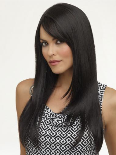 Black African Wigs UK Long Length Black Color Yaki Style