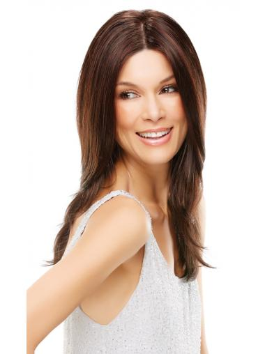 Long Straight Without Bangs Best Auburn Lace Front Wigs