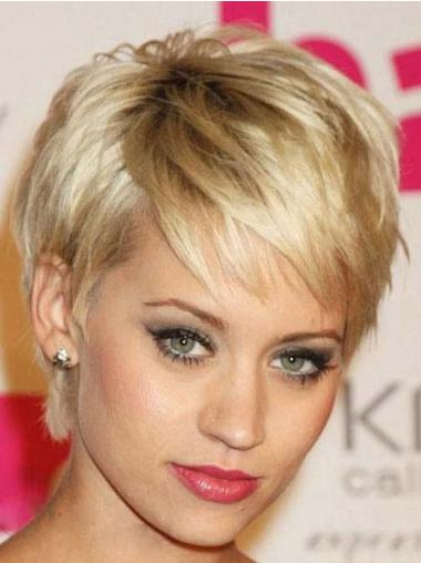 Short Pixie Haircuts Wigs Cropped Length Straight Style Boycuts