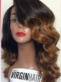 Ombre/2 Lale Front Wavy With Bangs Black Woman Looking For 100% Human Hair