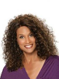 "Auburn Shoulder Length Curly Without Bangs Full Lace 12"" Beverly Johnson Wigs"
