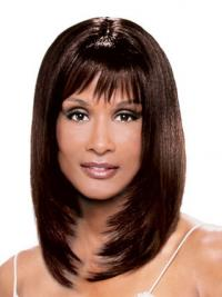 "Auburn Shoulder Length Straight With Bangs Lace Front 14"" Beverly Johnson Wigs"
