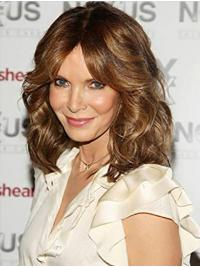 """Shoulder Length Lace Front 14"""" Brown Discount Synthetic Jaclyn Smith Wigs"""