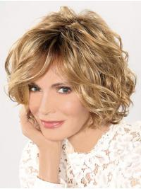 "Chin Length Lace Front 10"" Blonde Designed Synthetic Jaclyn Smith Wigs"