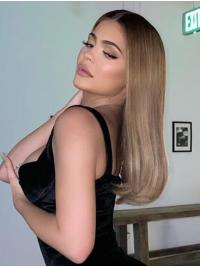 """Long Lace Front 16"""" Blonde Soft Synthetic Kylie Jenner Wigs"""
