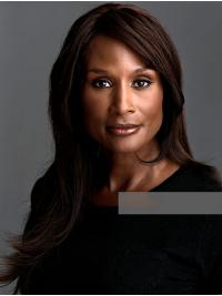 """Straight Brown Long 18"""" Synthetic Sassy Beverly Johnson Wigs"""