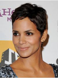 Great Cropped Full Lace Remy Human Hair Boycuts Halle Berry Wigs