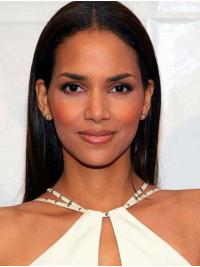 Perfect Long Lace Front Synthetic Without Bangs Halle Berry Wigs