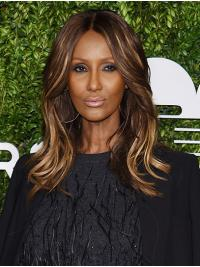 """Wavy Shoulder Length Lace Front Ombre/2 Tone 14"""" Without Bangs Synthetic For Women Iman Wigs"""