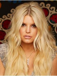 """Long No-Fuss Wavy Lace Front 24"""" Synthetic Jessica Simpson Wigs"""