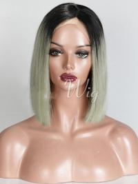 Chin Length Ombre/2 Tone Straight Bobs Suitable African American Wigs