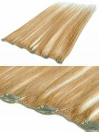 Suitable Blonde Straight Remy Human Hair Clip In Hair Extensions