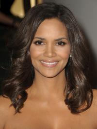 """Full Lace Wavy Layered Long Flexibility 16"""" Halle Berry Wigs"""