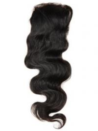 Online Black Long Wavy Lace Closures