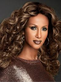 """Long Curly Lace Front Brown 22"""" Fashionable Iman Wigs"""