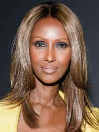 """Shoulder Length Straight Lace Front Brown 16"""" Gorgeous Iman Wigs"""