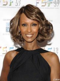 """Chin Length Wavy Lace Front Brown 12"""" Incredible Iman Wigs"""