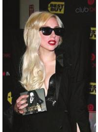 "20"" Cheap Long Wavy Layered Lady Gaga Wigs"