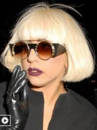 Lady Gaga Wigs UK Bobs Cut Blonde Color Straight Style