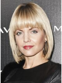 "Blonde Chin Length Lace Front 11"" Mena Suvari Wigs"