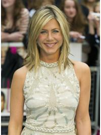 """Shoulder Length Straight Layered Capless Blonde Incredible 14"""" Jennifer Aniston Wigs"""