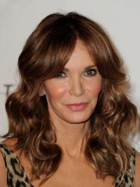 """Long Wavy Layered Lace Front Brown Sleek 16"""" Jaclyn Smith Wigs"""