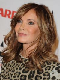 "Shoulder Length Wavy Layered Lace Front Brown Stylish 14"" Jaclyn Smith Wigs"