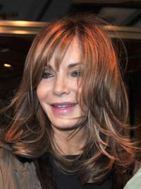 "Shoulder Length Straight With Bangs Full Lace Brown New 14"" Jaclyn Smith Wigs"