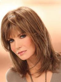 """Shoulder Length Straight Layered Lace Front Brown Soft 14"""" Jaclyn Smith Wigs"""