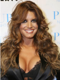 """20"""" Gorgeous Brown Long Wavy Layered Jessica Simpson Wigs"""