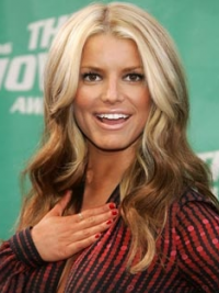 """16"""" Cheapest Ombre/2 Tone Long Wavy Layered Jessica Simpson Wigs"""
