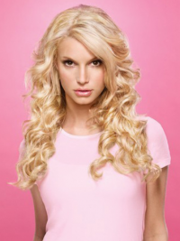 Wavy Lace Front Layered Long Blonde Popular Jessica Simpson Wigs