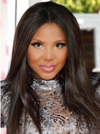 Full Lace Without Bangs Straight Long Black Trendy Toni Braxton Wigs