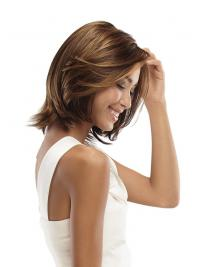 "No-Fuss Chin Length Wavy 11"" Synthetic Glueless Lace Front Wigs"
