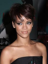 Rihanna Style Wigs With Capless Boycuts Cropped Length Auburn Color