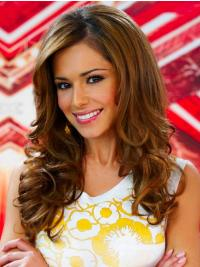 Cheryl Wig Brown Long Curly With Capless Long Length Remy Human