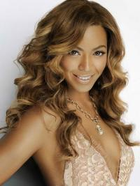 Beyonce Lace Front Wigs Brown Color Long Length Wavy Style