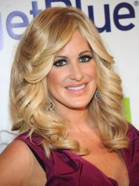 "Cheap 16"" Long Wavy With Bangs Capless Kim Zolciak Wigs"