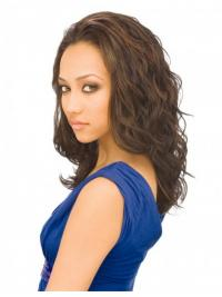 Wavy Indian Remy Hair Brown Long Beautiful 3/4 Wigs