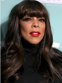 """With Bangs Straight Black 20"""" High Quality Wendy Williams Wigs"""