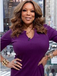 "Layered Wavy Brown 18"" No-Fuss Wendy Williams Wigs"
