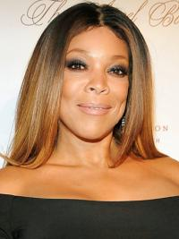 "Without Bangs Straight Ombre/2 Tone 20"" Natural Wendy Williams Wigs"