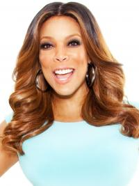 """Wavy Ombre/2 Tone 16"""" High Quality Wendy Williams Wigs"""