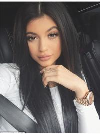 """Fashionable 20"""" Long Straight Without Bangs Full Lace Kylie Jenner Wigs"""