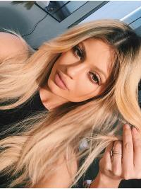 """Suitable 16"""" Long Wavy Layered Kylie Jenner Wigs"""