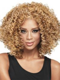 African Hair Style With Capless Kinky Style Blonde Color Shoulder Length